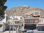 De kerk van de profeet Elia torent boven Koulouri uit, Griekenland
