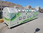 Afval scheiden, dat ziet er professioneel uit, Koulouri, Griekenland