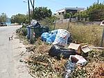Niet alle afval wordt netjes gescheiden, Salamina, Griekenland