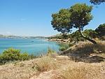 De kust in het noordwesten van Salamina, Griekenland