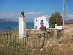 Buste en huis van de dichter Angelos Sikelianos, Griekenland