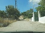 De weg houdt op, in het noorden van Salamina, Griekenland