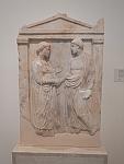 Grafstele in het museum van Salamina, Griekenland