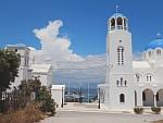 Kerk in Ambelakia in het oosten van Salamina, Griekenland