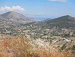 Uitzicht over het eiland Salamina, Griekenland