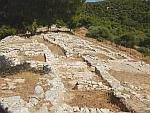 Restanten van de Myceense acropolis van Ajax bij Kanakia, Griekenland