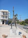 Standbeeld van de krijger Ajax, Griekenland