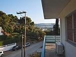 Uitzicht vanaf ons balkon op Poros, Griekenland