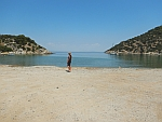 Vagionia baai in het noorden van Poros, Griekenland