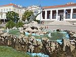 Zeemeermin fontein in Poros, Griekenland