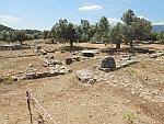 Het terrein van de tempel van Poseidon op Poros, Griekenland