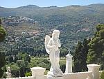 Engel op de oude begraafplaats van Andros, Griekenland