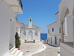 St. Barbara kerk in Andros stad, Griekenland
