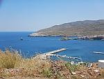 Andros stad vanaf een afstandje, Griekenland
