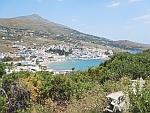 Batsi aan de westkust van het eiland Andros, Griekenland