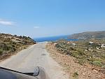 Een spannend weggetje op Andros, Griekenland