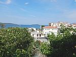 Uitzicht vanuit ons appartement in Marmari, Evia, Griekenland