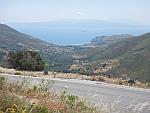 De baai bij Potami in het zuiden van Evia, Griekenland