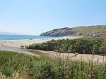 Het strand bij Potami in het zuiden van Evia, Griekenland