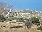 Wegennetwerk in het zuiden van Evia, Griekenland