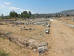 Het uitgebreide opgravingsterrein van Eretria, Griekenland
