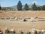 Het amfitheater van Eretria, Griekenland