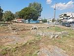 De baden van het oude Eretria, Griekenland