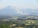 Zicht op de Alpen vanaf Wolfsegg am Hausruck in Oostenrijk, Oostenrijk