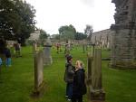 Begraafplaats achter de abdij van Kelso, Schotland