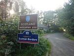 Een van de vele grensovergangen met Schotland, Schotland