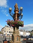 Mercat Cross in het centrum van Jedburgh