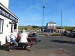 We pikken een terrasje in Eyemouth