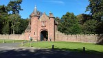Kasteelpoort in Ayton, Scottish Borders