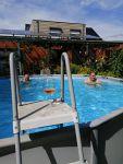 Lekker, een zwembad in de tuin, Belgie