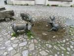 Bronzen biggetjes, bij de Antoniusfontein in Wangen, Duitsland