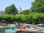 Uitzicht vanuit het stadspark in Konstanz, Duitsland