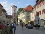 Vrouwentoren in Wangen vanuit de binnenstad, Duitsland