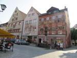 Kleurige huizen in Wangen, Duitsland