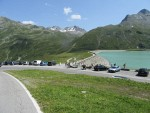 Vermuntstausee in de Silvrettapas, Oostenrijk